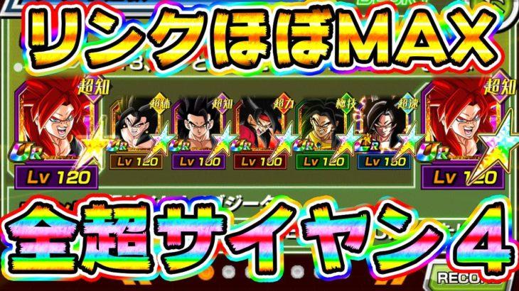 【ドッカンバトル】虹ってリンク激上げ!夢の超サイヤン4パーティ【Dragon Ball Z Dokkan Battle】