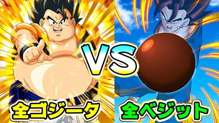 【ドッカンバトル】空前絶後の全ゴジータ編成VS全ベジット編成!【Dragon Ball Z Dokkan Battle】