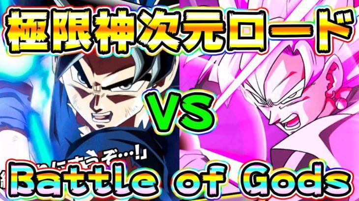【ドッカンバトル】極限神次元ロード ドラゴンボールZ 神と神とスパーキン神コロ【Dragon Ball Z Dokkan Battle】
