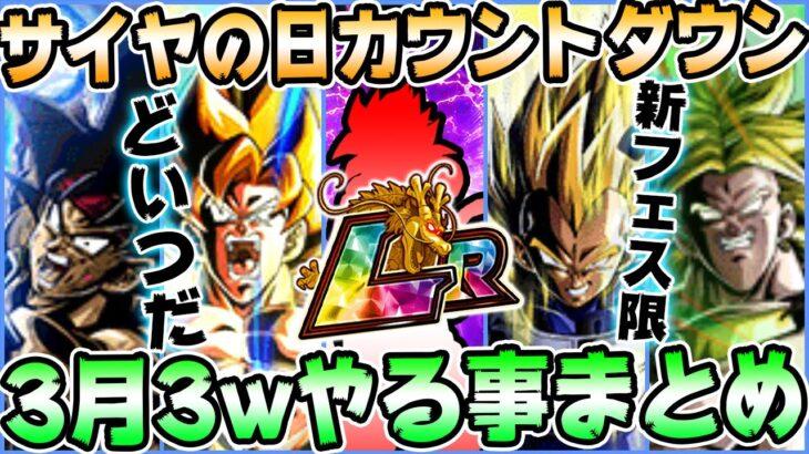 【ドッカンバトル】ついに今日メンテ!3月3週目やる事まとめ!サイヤの日カウントダウン!初心者向け解説【Dragon Ball Z Dokkan Battle】【ソニオTV】