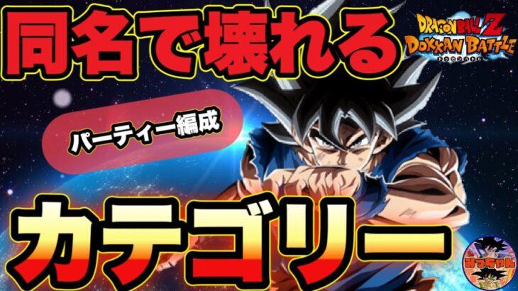 ︎【ドッカンバトル#538】同名問題改修で壊れる‼︎評価爆上げカテゴリー【Dragon Ball Z Dokkan Battle】