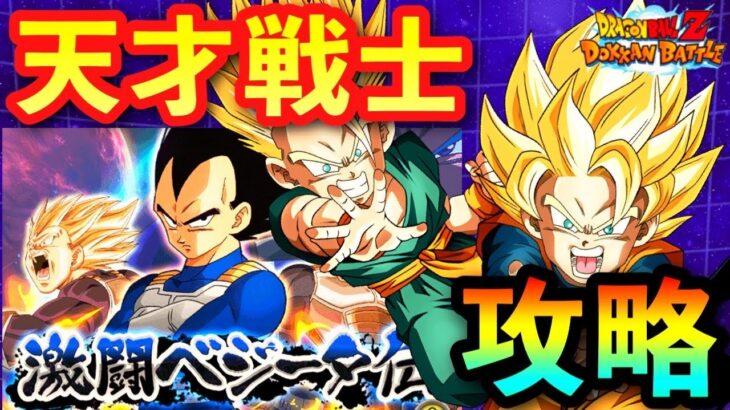 【ドッカンバトル 1043】激闘ベジータ伝!天才戦士カテゴリミッション攻略!立ち回りと編成紹介【Dragon Ball Z Dokkan Battle ベジータ伝】