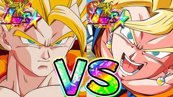 【ドッカンバトル】LR虹ータ VS LR虹ット 最強の合体お父さんはどっちなんだいッ!?【Dragon Ball Z Dokkan Battle】